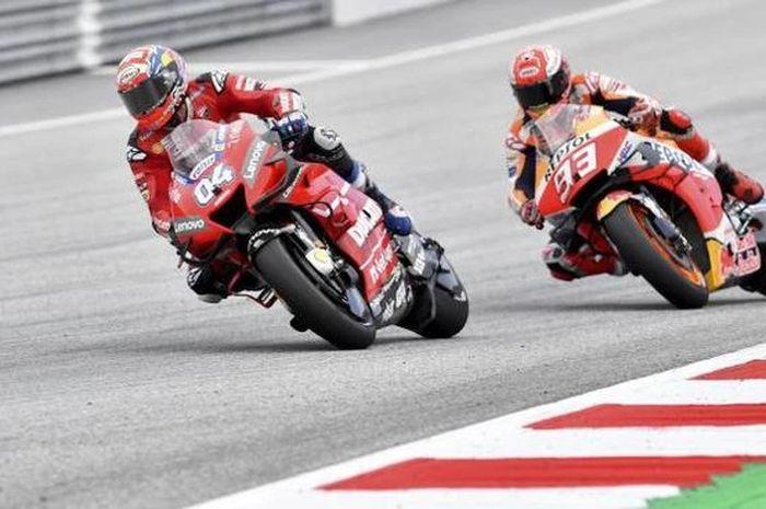 Andrea Dovizioso dan Marc Marquez di MotoGP Austria 2019