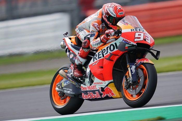 Marc Marquez raih lap tercepat di FP2 MotoGP Inggris 2019