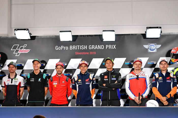 Konferensi pers MotoGP Inggris, Kamis (22/8/2019) tercatat paling banyak terbanyak dari peserta konferensi pers sebelumnya