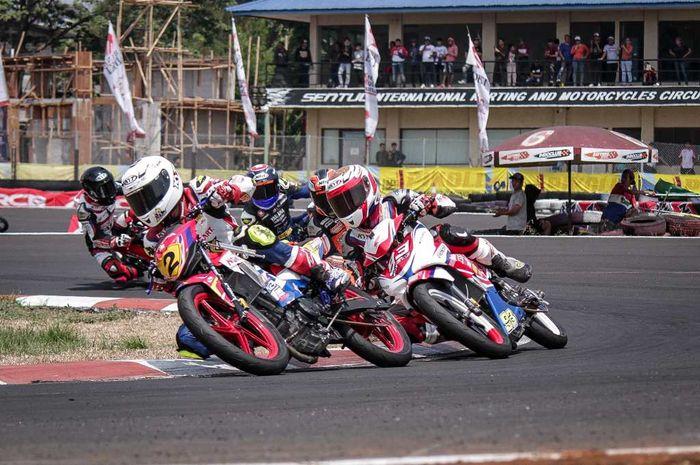 Ilustrasi balap motor
