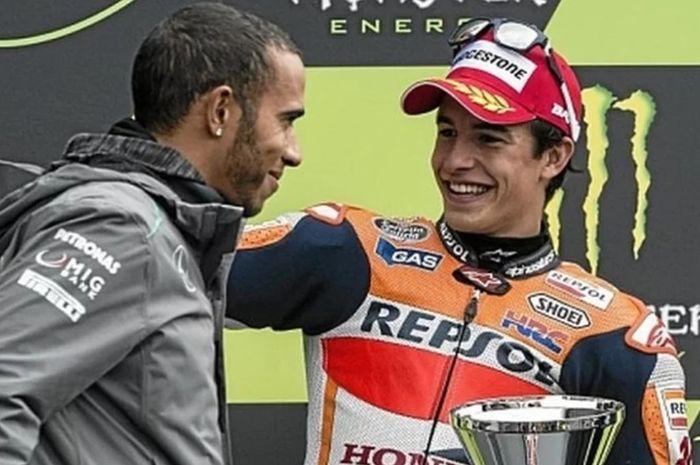 Marc Marquez tantang Lewis Hamilton untuk balap F1 dan MotoGP