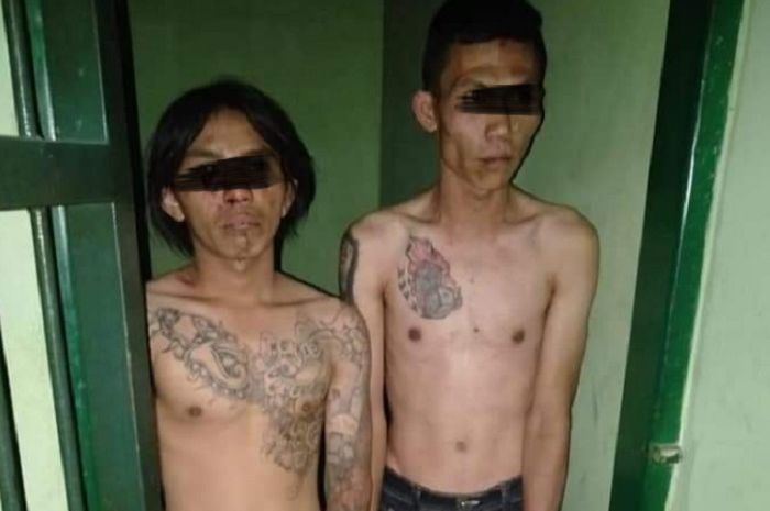 Dua begal ditangkap anggota TNI dan driver ojol di Cimahi, Jabar.