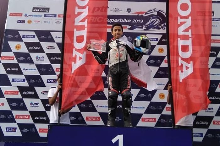 Herlian Dandi juara 1 race 1 Thaliand Talent Cup (TTC) 2019