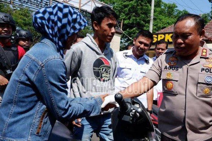 Honda BeAT milik Jamaali yang hilang ditemukan Satreskrim Polres Pasuruan, Rabu (11/9/2019) lalu.