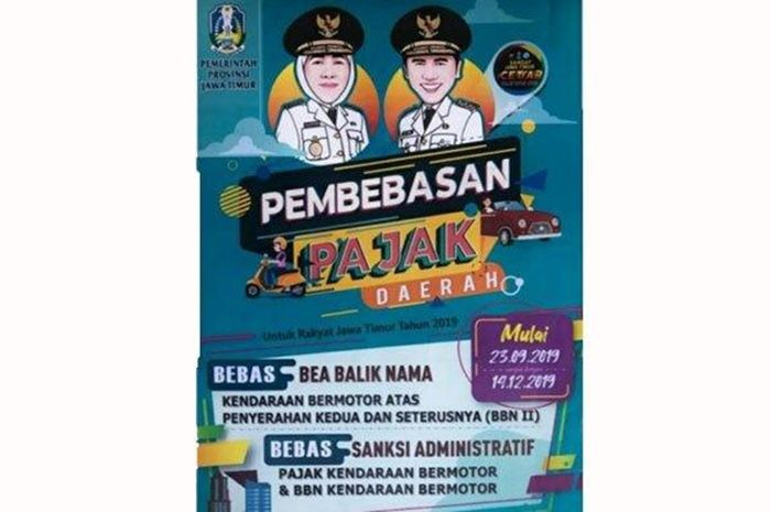Brosur pemutihan pajak di Jawa Timur