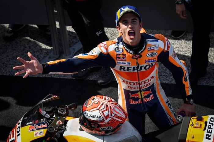 Pantas Marc Marquez begitu ekspresifnya merayakan kemenangan MotoGP San Marino 2019, ternyata ada alasannya