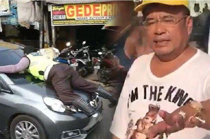 Hotman Paris komentari polisi yang menempel di kap Honda Mobilio.