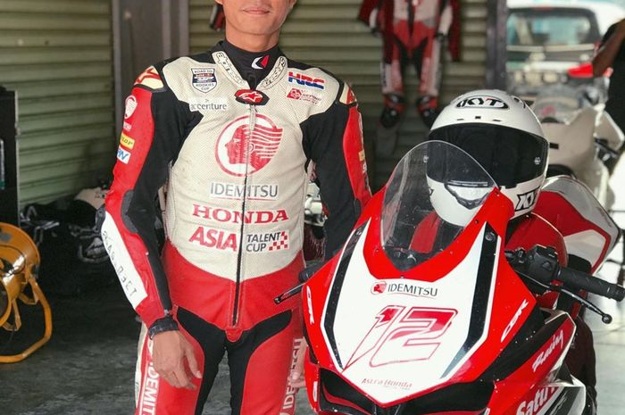 Lucky Kaddi (Astra Honda Racing Team) raih posisi start terdepan (front row) di ARRC AP250 ronde 5 Malaysia, (21/9/2019)