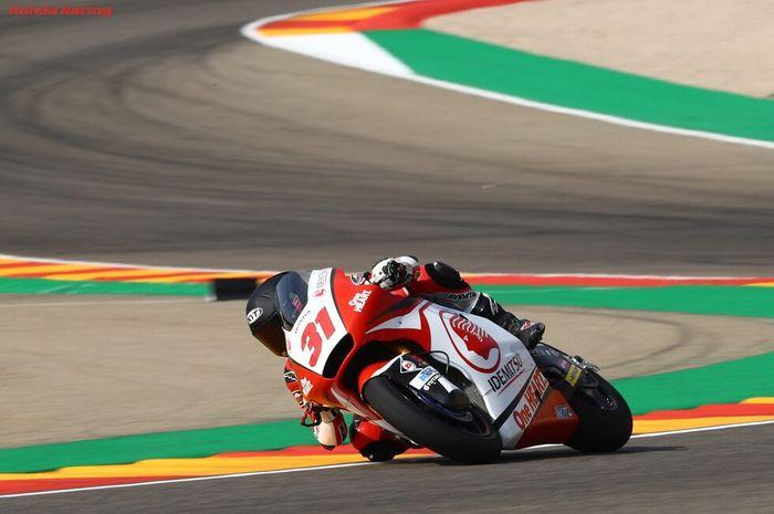 Gerry Salim sedikit lebih baik di Fp3 kali ini dengan melakukan 10 lap meski ada sedikit kesalahan di tikungan 8 sirkuit Aragon, Spanyol