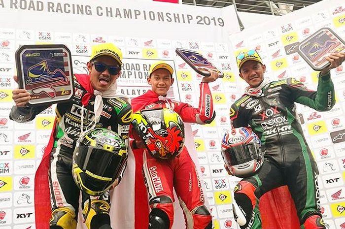 Podium race 2 AP250 ARRC Malaysia 2019.