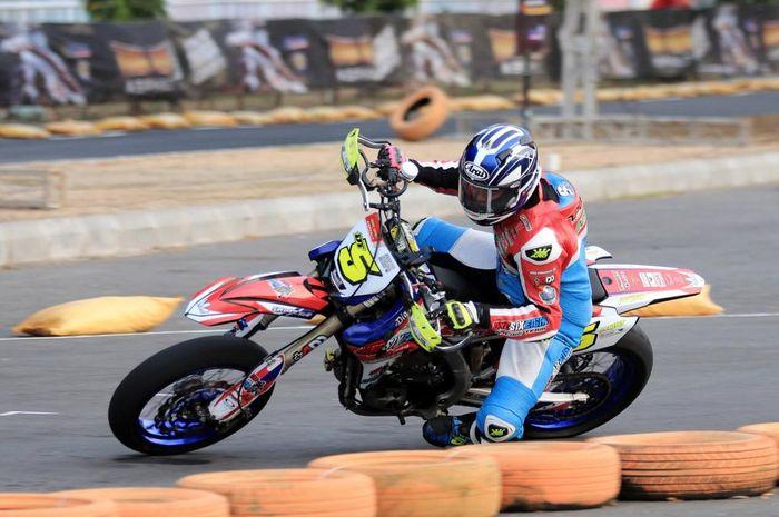 Doni Tata belum berhasil keluar sebagai juara di Trial Game Ashpalt Yogyakarta 2019