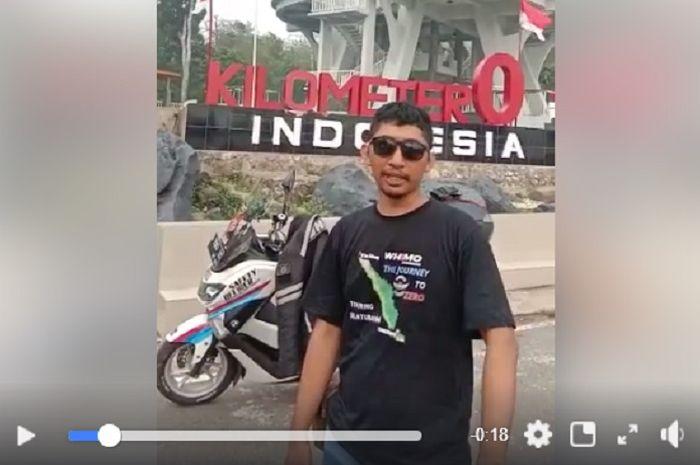Bikers Yamaha NMAX membuat video di depan tugu Nol Kilometer dan menuai kontroversi.