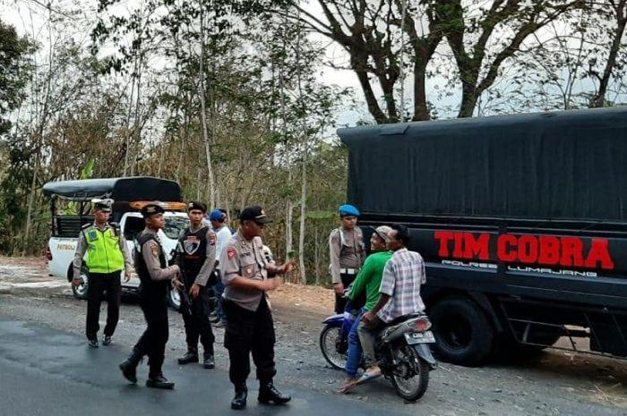 Polres Lumajang langsung menerjunkan 1000 personel untuk menggelar razia besar-besaran.