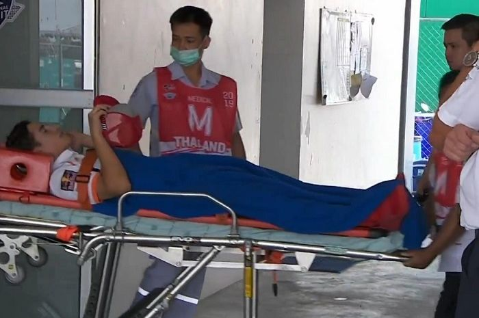 Marc Marquez dilarikan ke Rumah Sakit usai kecelakaan di FP1 MotoGP Thailand.