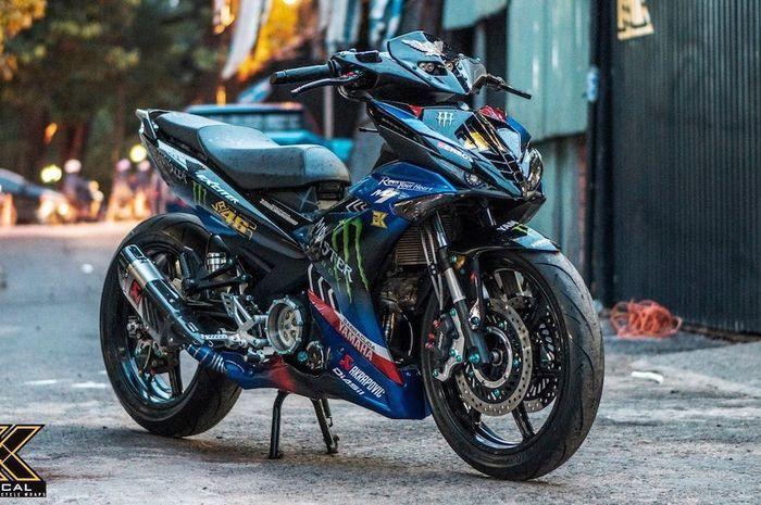 Modifikasi Yamaha MX King 150 sangar plus berlivery Monster Energy.