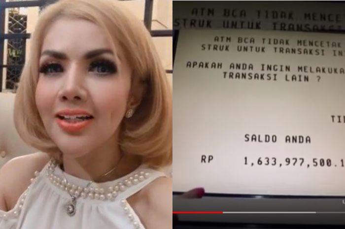 Barbie Kumalasari tunjukkan saldo ATM-nya capai Rp3,1 miliar.