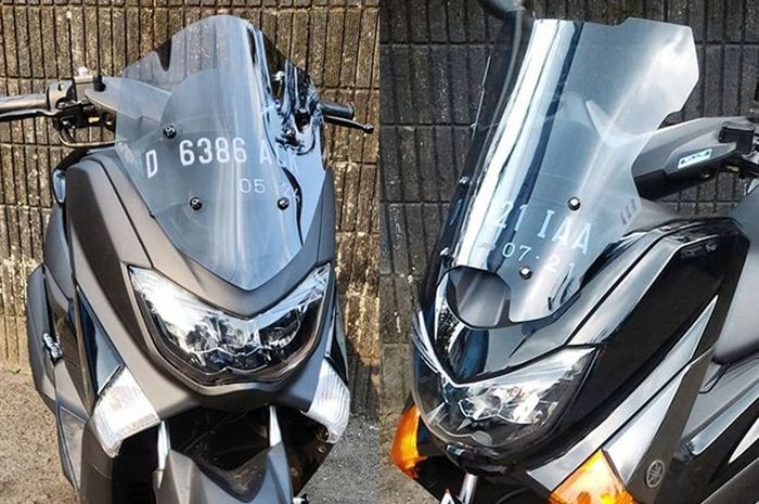 Beberapa model windshield Yamaha NMAX dari Geba Leisure Part