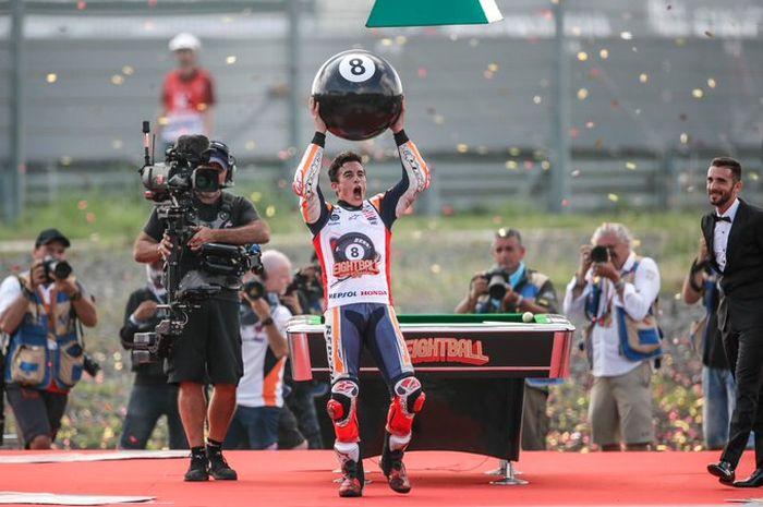 Marc Marquez mengoleksi 8 titel juara dunia, seluruh kategori, di MotoGP Thailand 2019 lalu