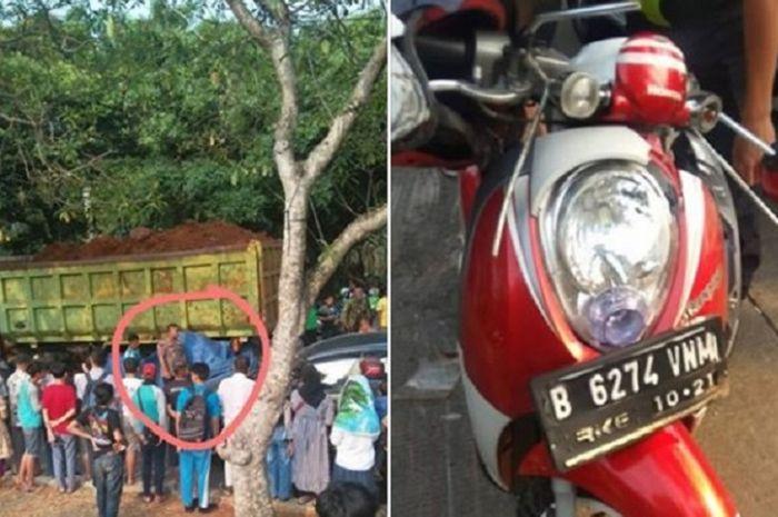 Mahasiswi tewas terlindas truk tanah di Graha Raya, Tangsel.