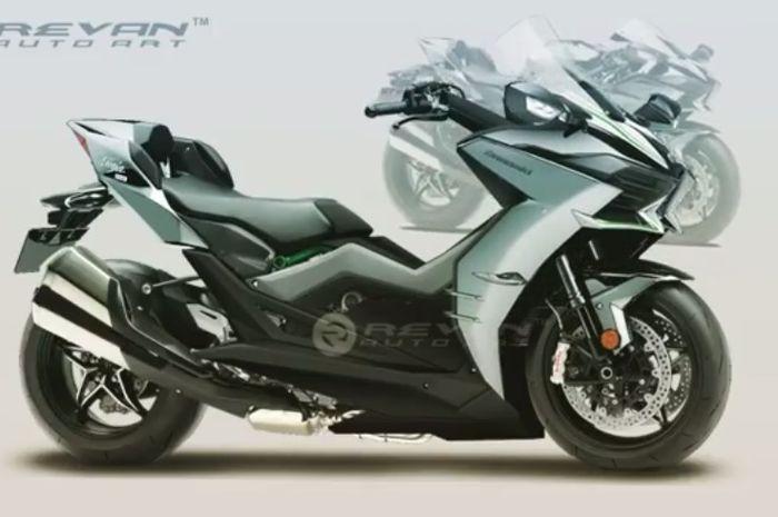 Kawasaki H2 versi skutik