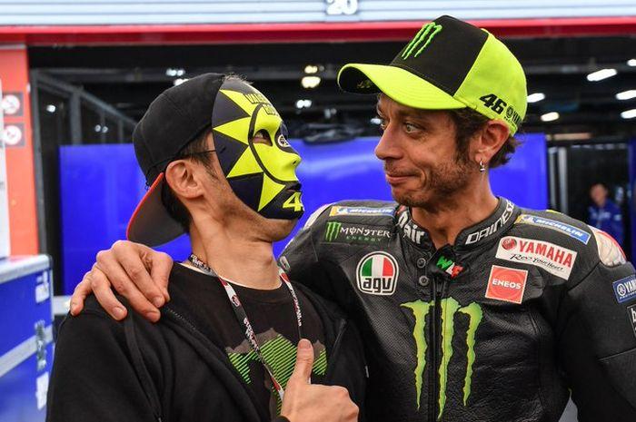Valentino Rossi pilih motor Yamaha M1  swing arm aluminium di MotoGP Jepang ketimbang pakai swing arm karbon seperti di 3 ronde MotoGP sebelumnya