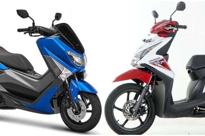 Honda BeAT dan Yamaha NMAX.
