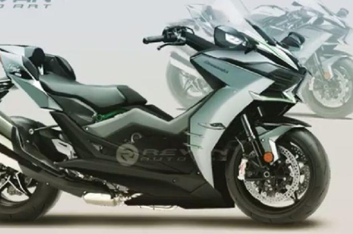 Matik Kawasaki mengambil basis dari Kawasaki Ninja H2.