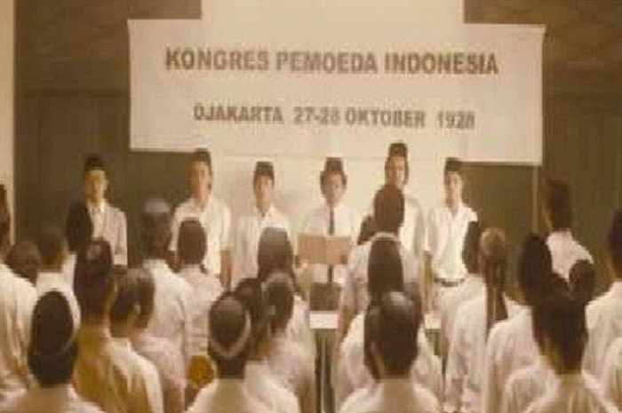 Kongres Pemuda pertama kali di Jakarta 28 Oktober 1928 dengan membaca Teks Sumpah Pemuda .