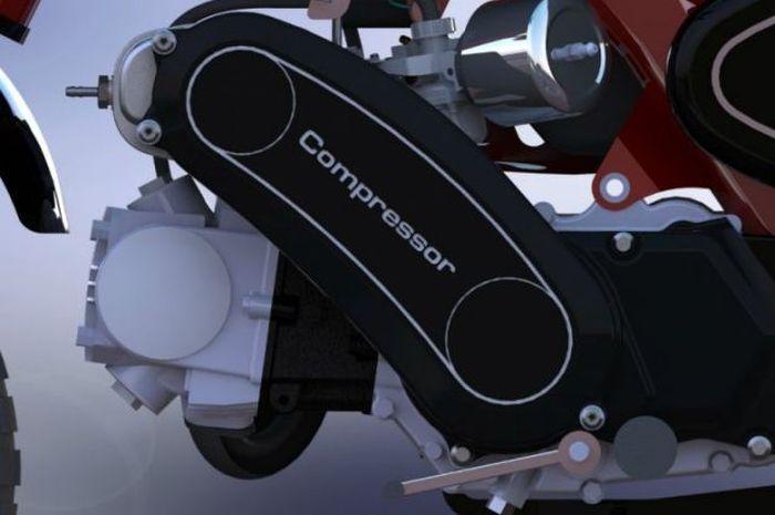 Honda Monkey dipasang supercharged, diklaim dapat menghasilkan tenaga yang berbeda dari versi standar