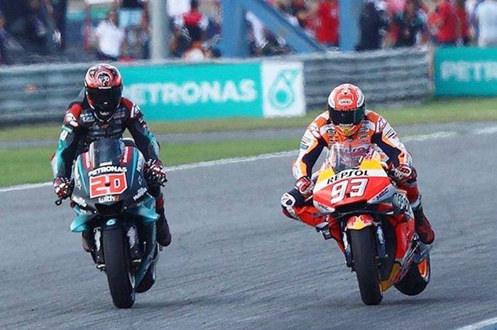 Duel hard braking Fabio Quartararo lawan Marc Marquez