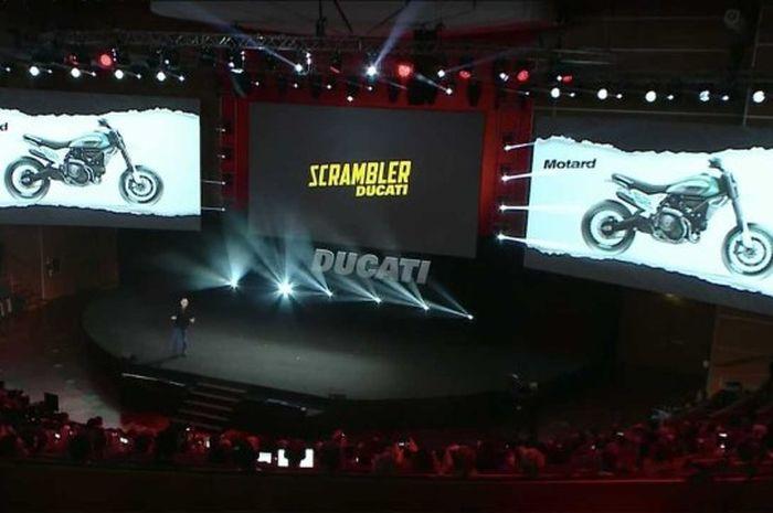 Ducati perkenalkan motor konsep merek yang akan di tampilkan pada ajang EICMA 2019 adalah Ducati Motorad dan Ducati Desert X.