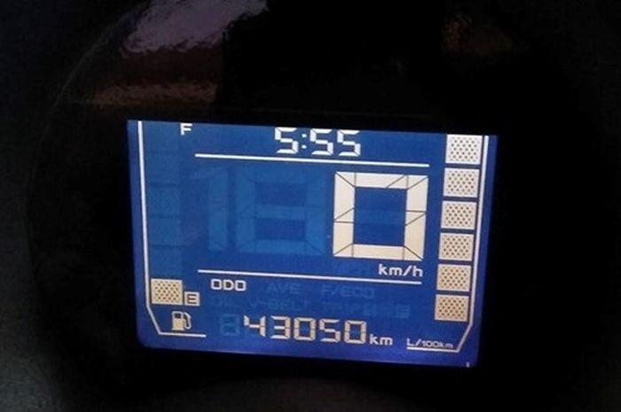 Spidometer Yamaha NMAX milik Aditya Putra aslinya 43.050 sebelum direset mekanik hanya 4.200 km