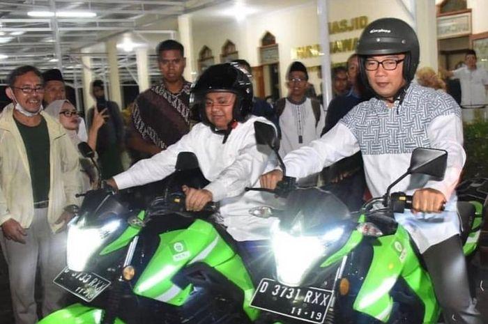 Pemprov Jawa Barat kembangkan ojek online menggunakan motor listrik yang bisa membeli sembako serta bayar listrik, air, dan lainnya.