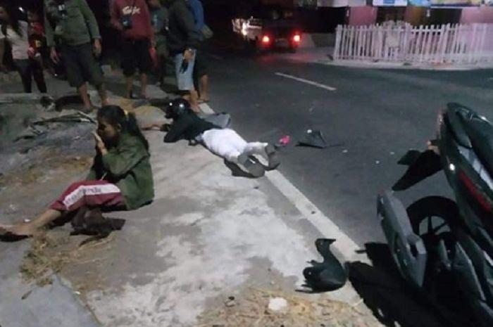 Tiga pelajar SMP mengalami kecelakaan di Klaten, Jateng.