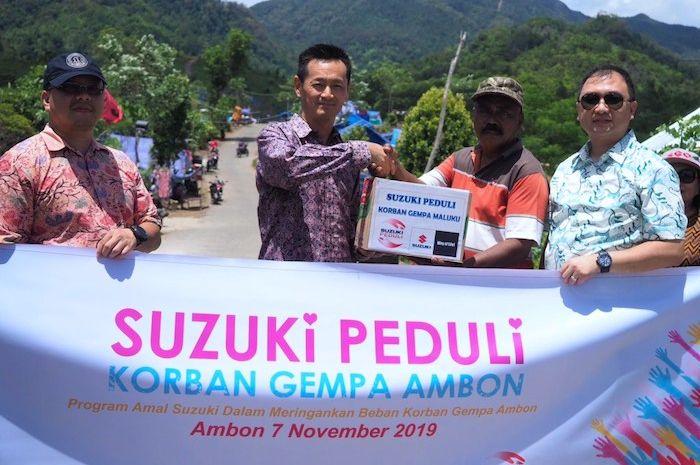 Bantuan Suzuki korban gempa di Maluku