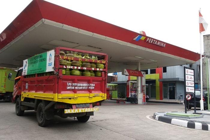 SPBU Pertamina kawasan Kebon Jeruk Jakarta Barat.