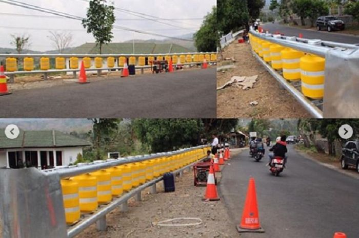 Pemasangan Roller Barrier di sejumlah jalan rama kecelakaan di Jawa Barat