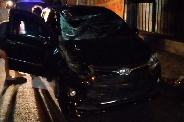 Mobil pelaku yang menabrak dan menewaskan anggota Polda Bali