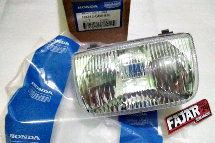 Reflektor lampu Honda Astrea Grand bungkus biru