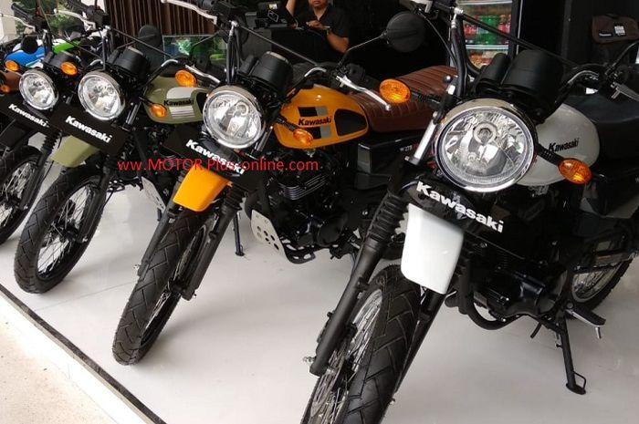 Kawasaki W175TR terbaru bisa dipesan.