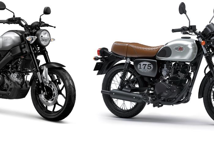 Ilustrasi Yamaha XSR155 dan W175