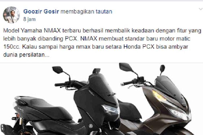 All New Yamaha NMAX kembali dibandingkan dengan Honda PCX 150.