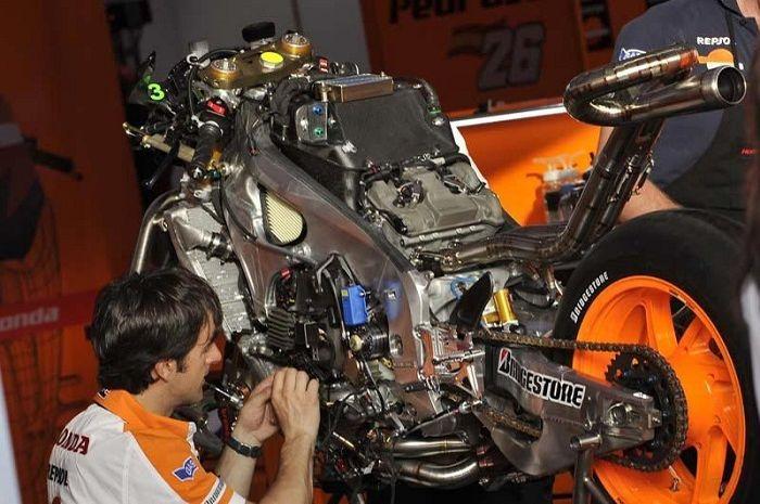 Komponen mesin RC213V yang dikendarai Marc Marquez