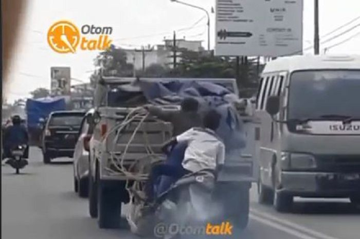 Aksi penjarahan alias bajing loncat di Helvetia, Medan, Sumatera Utara gagal setelah terjatuh.