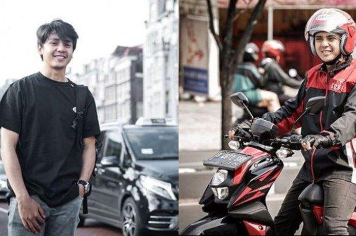 Pemain sinetron yang berperan driver ojek online doyan motor custom.