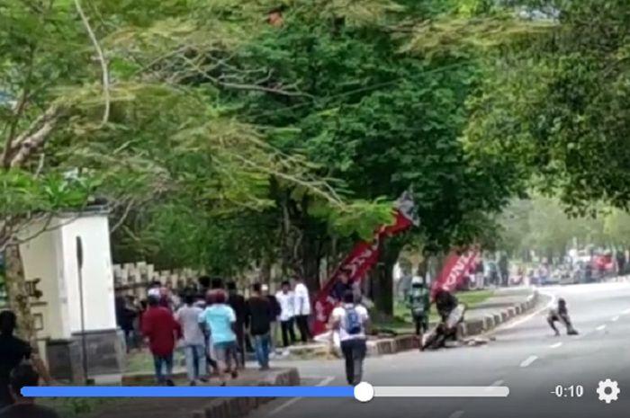 Video kecelakaan pada Kejurda Balap Motor Aceh (8/12/2019).
