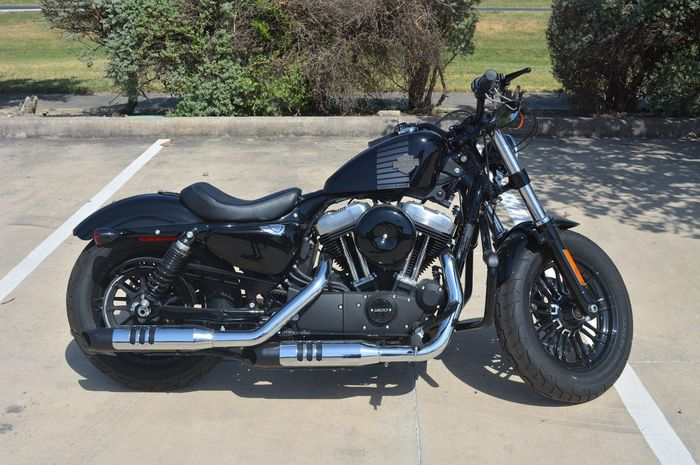 Illustrasi motor gedea Harley Davidson