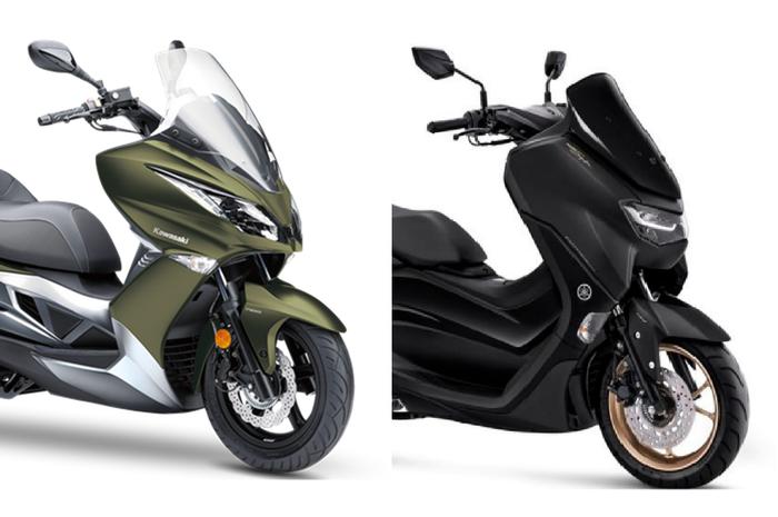 Ilustrasi Kawasaki J125 dan Yamaha All New NMAX 155