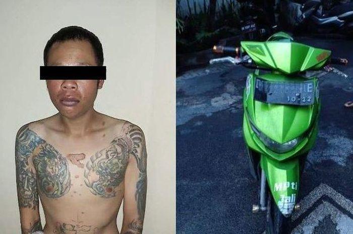 Pelaku pemerasan seorang pemotor di jalan raya menghebohkan masyarakat Pulau Dewata, Bali