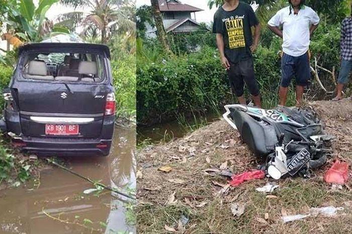Mobil dinas bikin kecelakaan maut, ibu dan anak meregang nyawa.
